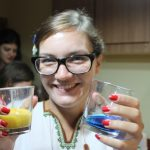 Two colorful glasses – juice?
