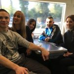 Smiling at high speed – volunteers on the train